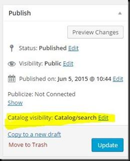 Expand Catalog Visibility