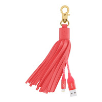 Belkin MIXIT↑ Lightning-to-USB Leather Tassel iPhone Charger in Pink