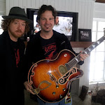 and we got to hold a million dollar guitar...  just....don't....drop...it!