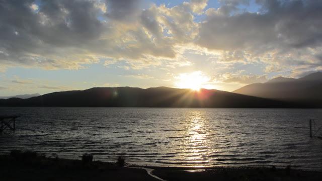 Sunset over Lake Te Anau.