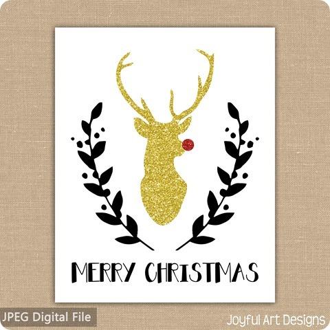 ETSY Listing Glitter deer