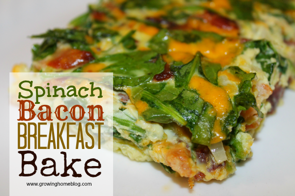 Spinach Bacon Breakfast Bake