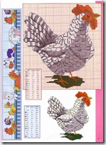 gallos y gallinas punto de cruz (7)