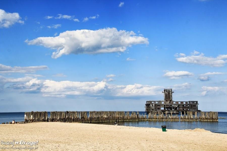 Plaża Gdynia Babie Doły z Torpedownią