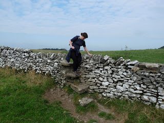 Negotiating the Limestone Wall stiles