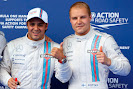 Front row starters Felipe Massa, Williams F1, and Valterri Bottas, Williams F1