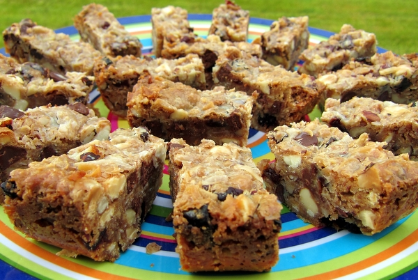 Gluten-Free Chocolate-Hazelnut-Cherry Magic Bars Recipe | Yummly