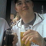 stefan having a beer in Prague, Prague - the Capital (Praha - hlavni mesto), Czech Republic