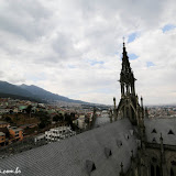 Vista da Catedral - Quito, Equador