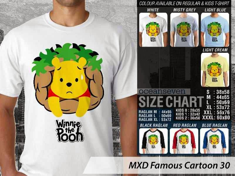 KAOS Winnie the Pooh 30 Kartun Lucu distro ocean seven