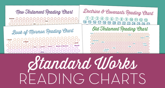 LDS Standard Works Scripture Reading Charts from The Personal Progress Helper