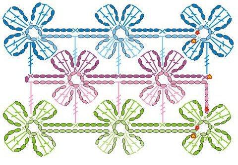 Schemi uncinetto fiori - Fiore collegare i punti ...