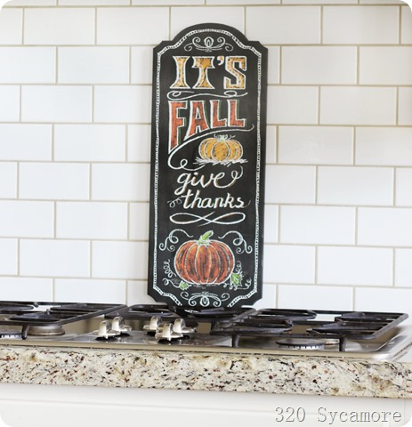 fall decor kitchen