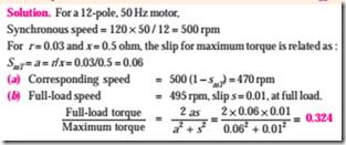 Motor load calculation formula for Electric motor torque calculator