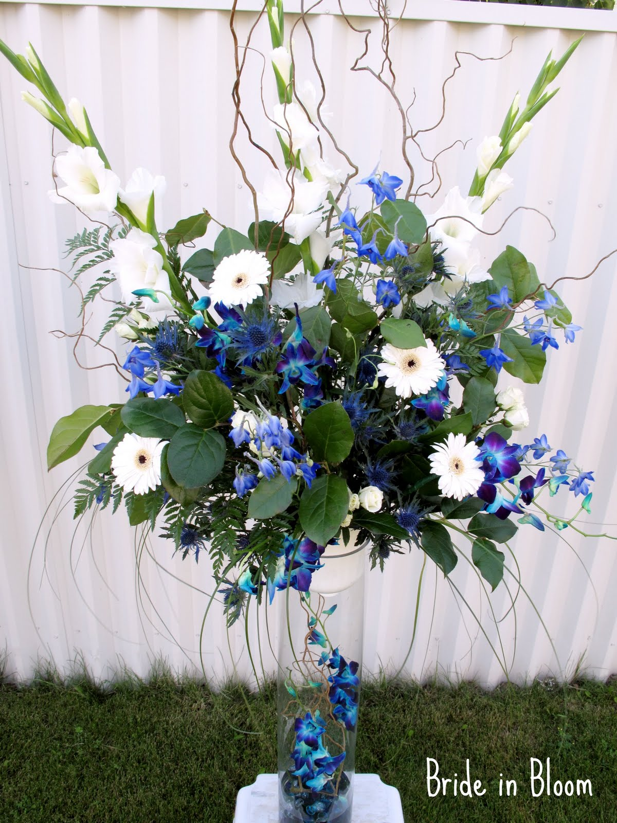 Blue orchid bridal bouquets