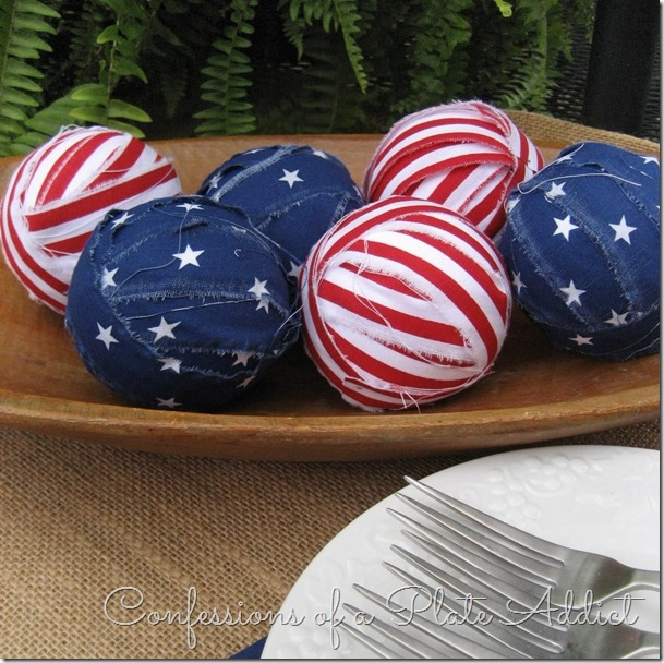 CONFESSIONS OF A PLATE ADDICT Patriotic Rag Ball Filler