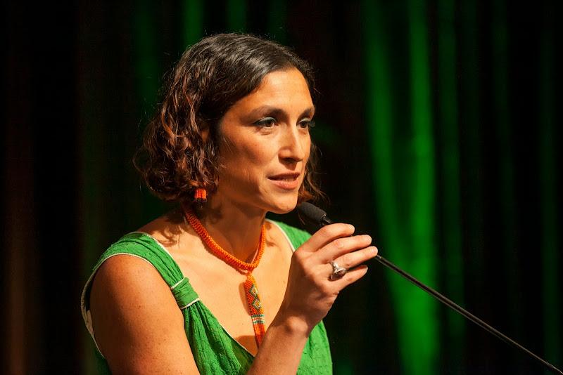 Leila Salazar-Lopez, Amazon Watch Program Director. September 25, 2013; San Francisco, CA, USA; Photo by Eric Slomanson / slomophotos.com