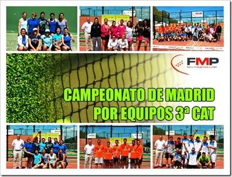 Los debutantes Pádel Aranjuez y Soto Torrejón ganan el Campeonato de Madrid por Equipos de 3ª categoría 2015 FMP.