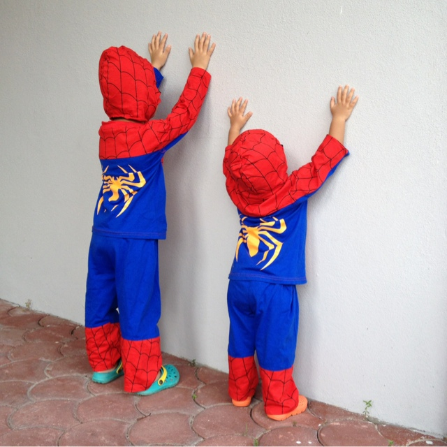 spider-girl and spider-boy   spiderman in the house