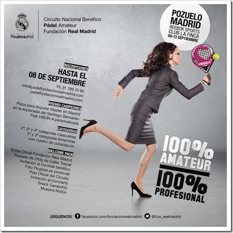 El Circuito Nacional Benéfico de Pádel Amateur de la Fundación Real Madrid llega a Madrid 2015