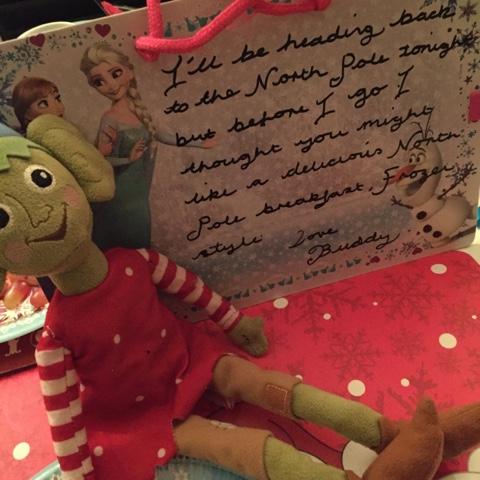 elf on the shelf frozen north pole breakfast