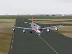 Aero Mexico DC-8 heading to the active