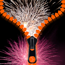Fireworks Zipper Lock Screen