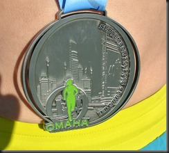 Omaha's race might be small, but their medal is HUGE!