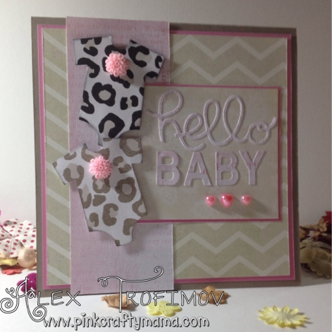 stampin up Stampin' Up! animal leopard print onesie onesis card cards square die cutting big shot pint tip top taupe baby's first framelits hello you little letters thinlits my minds eye dear lizzy go wild DSP