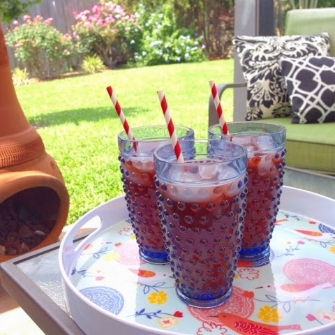 hobnail iced tea glasses