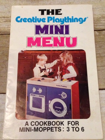 creative playthings cookbook for mini moppets 1976