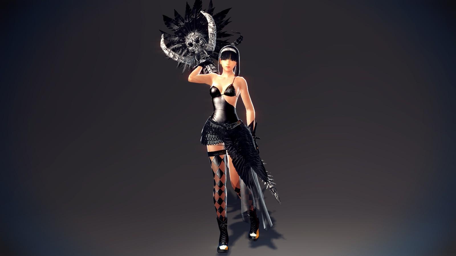 Pure Black Skirt