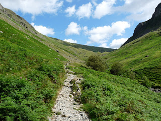Looking back up the path in Greenup Gill.