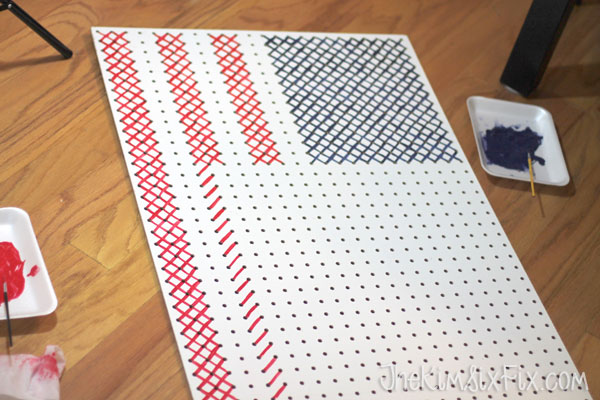 Cross stitch american flag