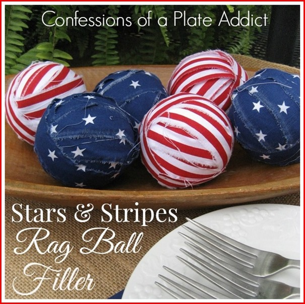 CONFESSIONS OF A PLATE ADDICT Stars & Stripes Rag Ball Filler