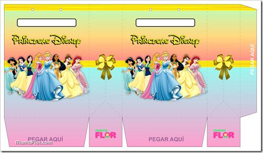 Plantilla Bolsa Sorpresas de la Princesa Disney