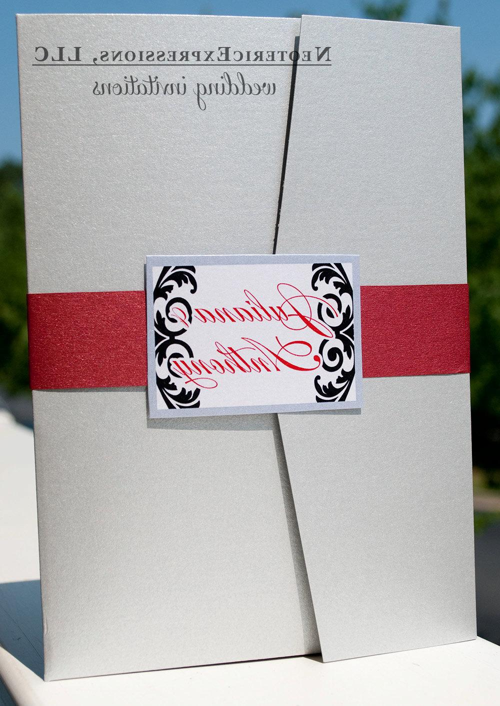 Wedding Invitation - Silver
