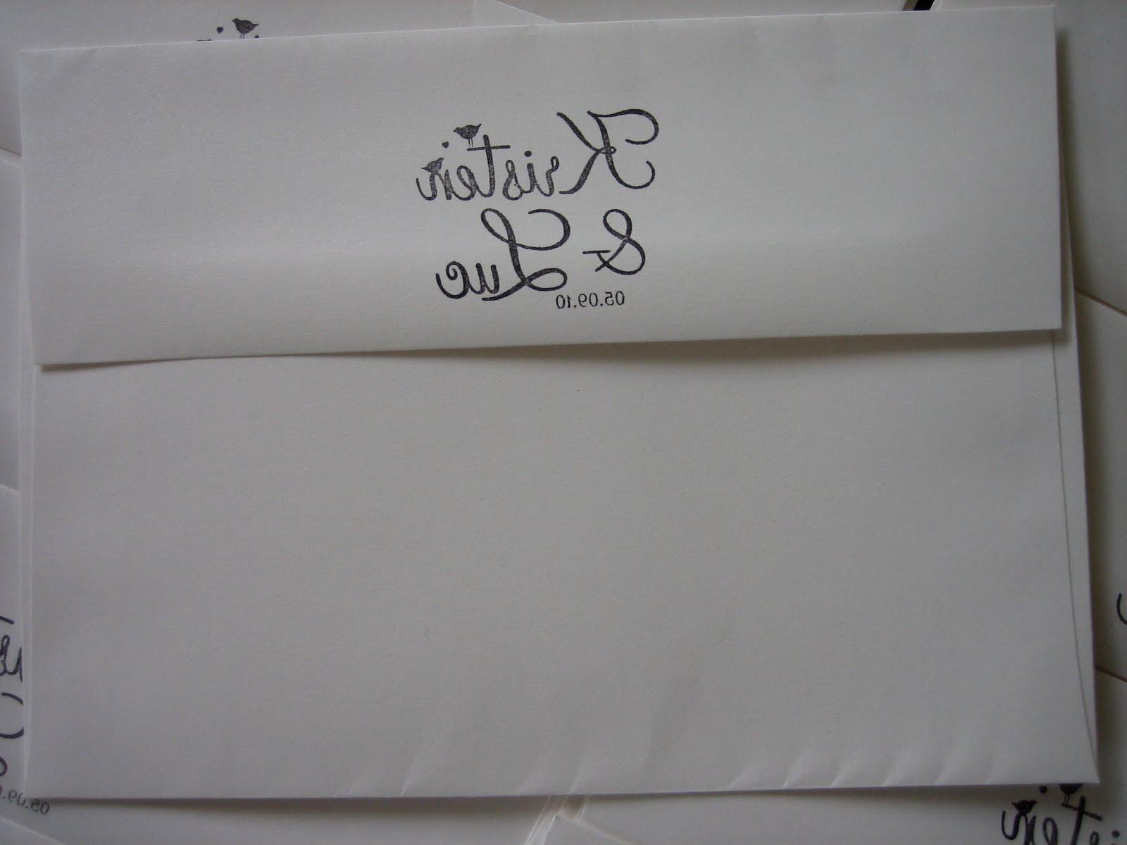 the RSVP mini-envelopes
