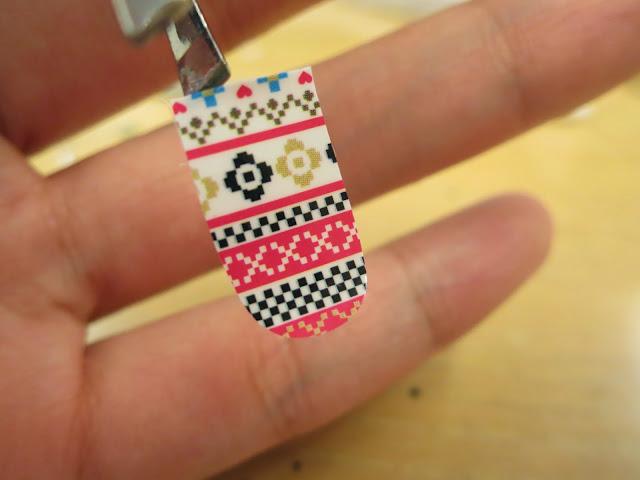 Tribal Print Nail Art Nail Wrap D1003