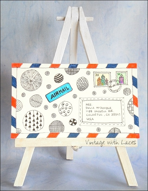 ICAD - Doodle Mail by Vintage with Laces
