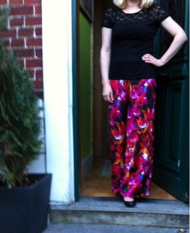 Pantalon large tendance Couture