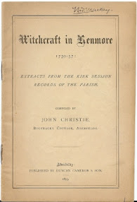 Cover of John Christie's Book Witchcraft in Kenmore from 1730 to 1757