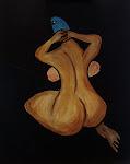 Alien Lady, Acryl auf Papier, 30x40 cm