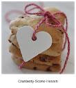 Cranberry Scone Herzen