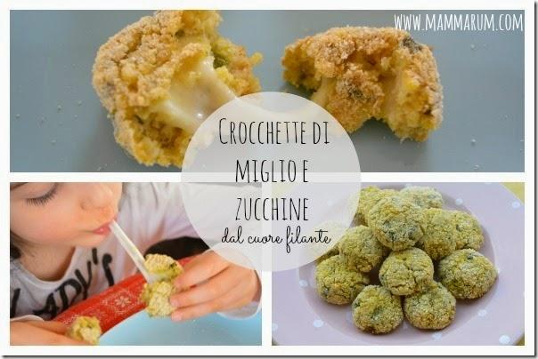 crocchette di miglio e zucchine