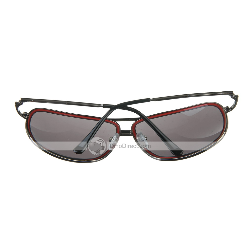 Glasses Frame Color: Gun Metal; Glasses Lens Color: Gray