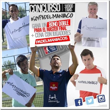 Concurso Padelmanía: bono doble + cena con jugadores en el Master Final WPT 2015.
