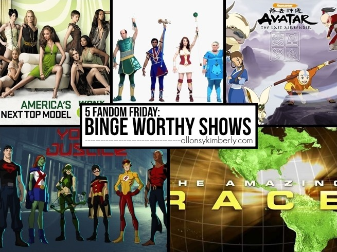 5 Fandom Friday: Binge Worthy Shows | allonsykimberly.com