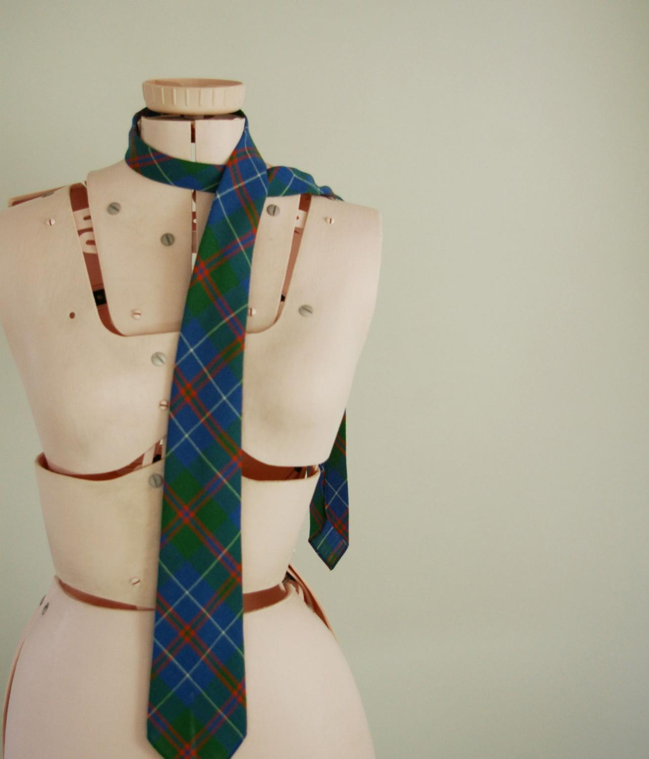 Vintage Blue and Green PLAID