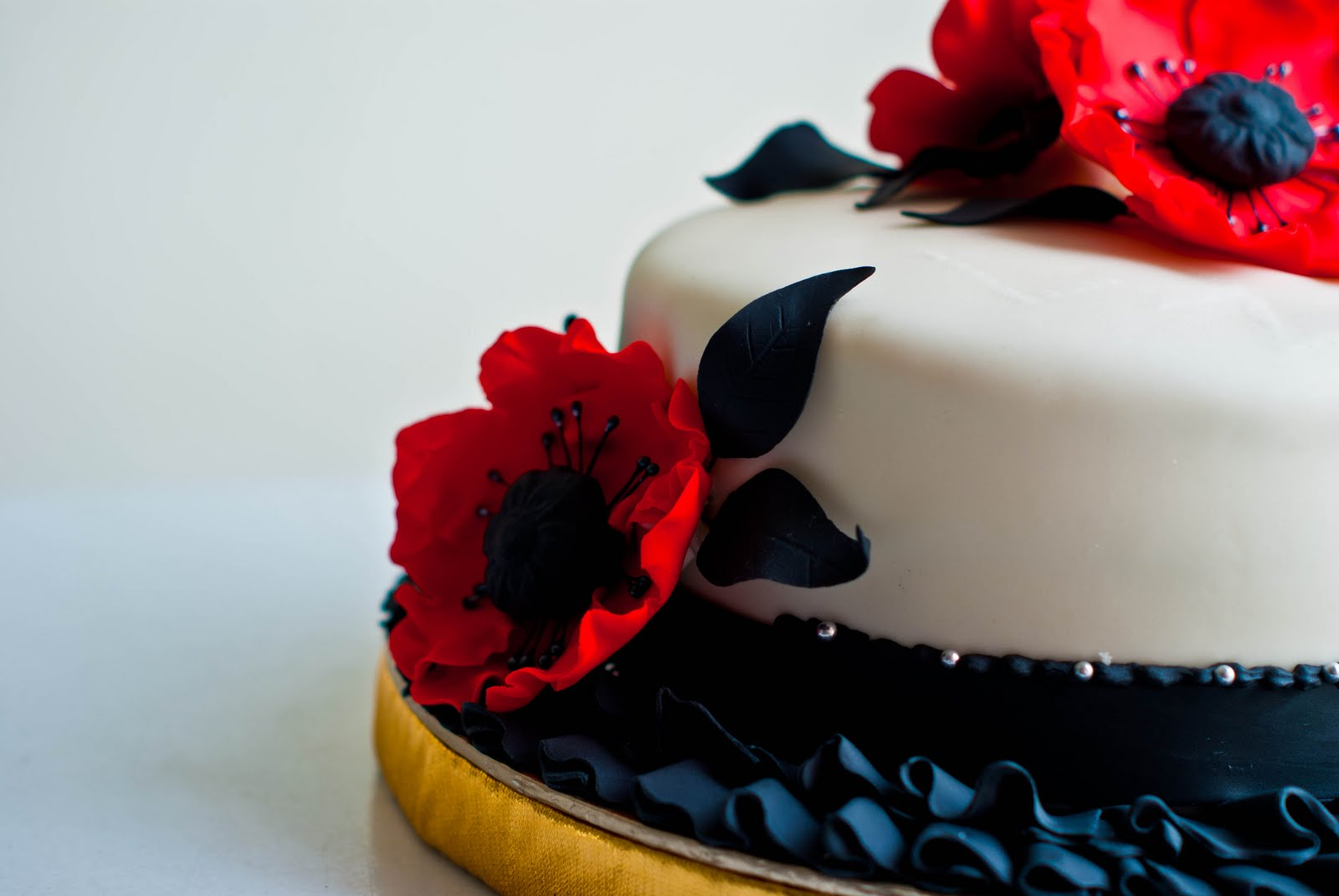 Red & Black themed cake.